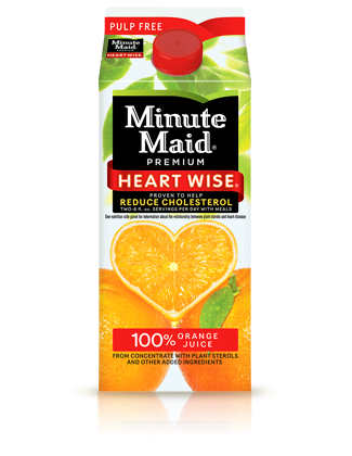 Minute Maid Heart Wise Orange Juice - ALLERGY ALERT