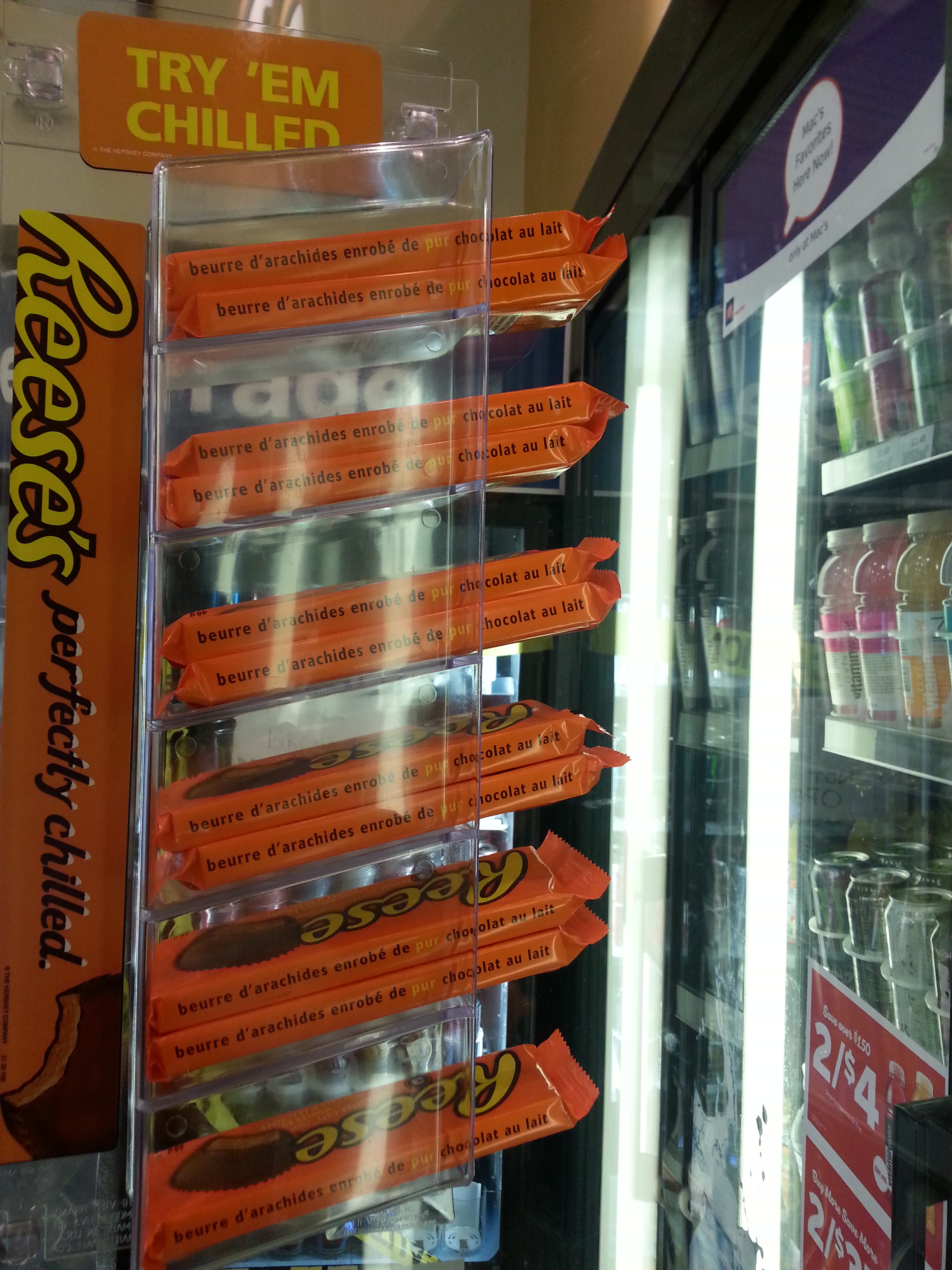 Reese's Peanut Butter Cups Chilled Display At Mac's