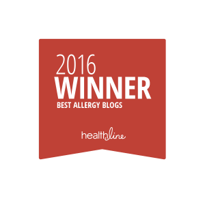 Healthline 2016 Best Allergy Blogs Badge Onespot Allergy Winner